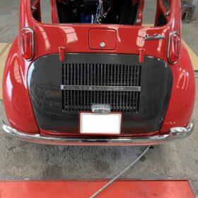 スバル360 エンジンフード装着例